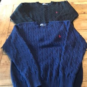 Polo Boys Cable knit crew sweaters